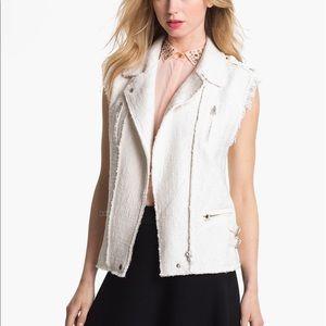 Rebecca Taylor Tweed Moto Style Vest